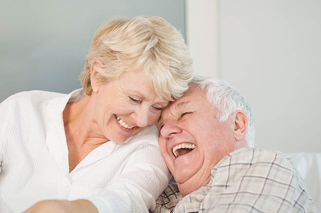 promotes-jawbone-growth-old-man-old-woman-smile-sweet-dental-care