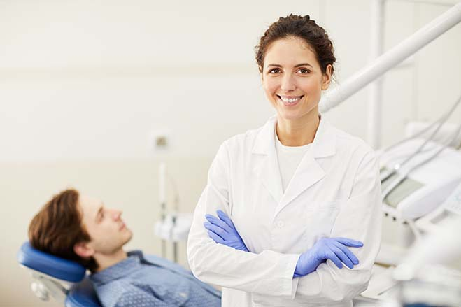 reduced-risk-of-complications-female-dentist-check-up-smile-dental-care-oral-health
